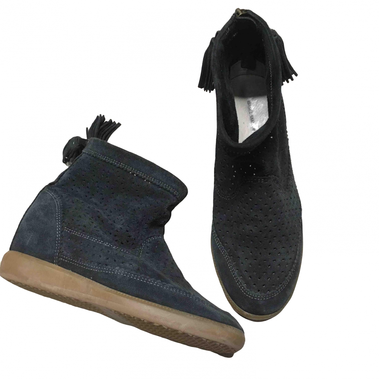 Isabel Marant Basley Black Suede Ankle boots for Women 37 EU