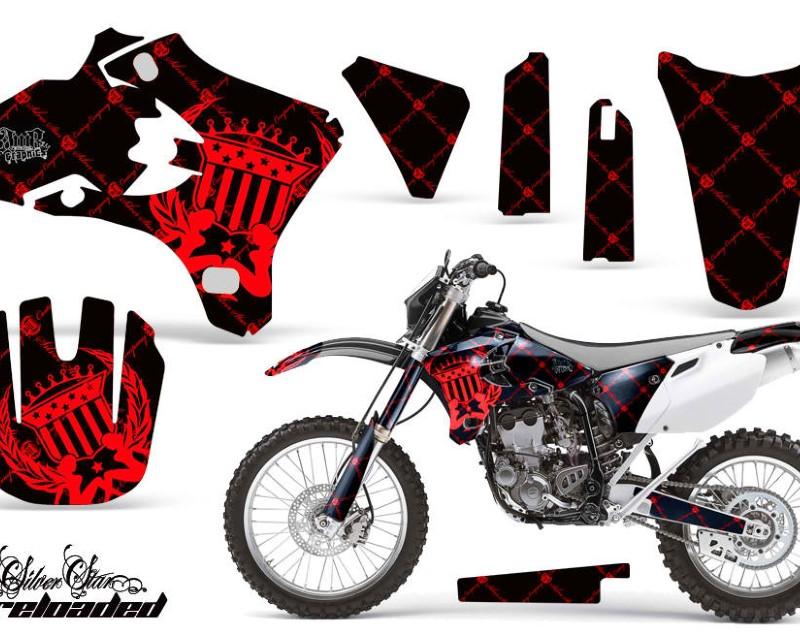 AMR Racing Dirt Bike Graphics Kit Decal Wrap For Yamaha YZ250F YZ450F 2003-2005áRELOADED RED BLACK