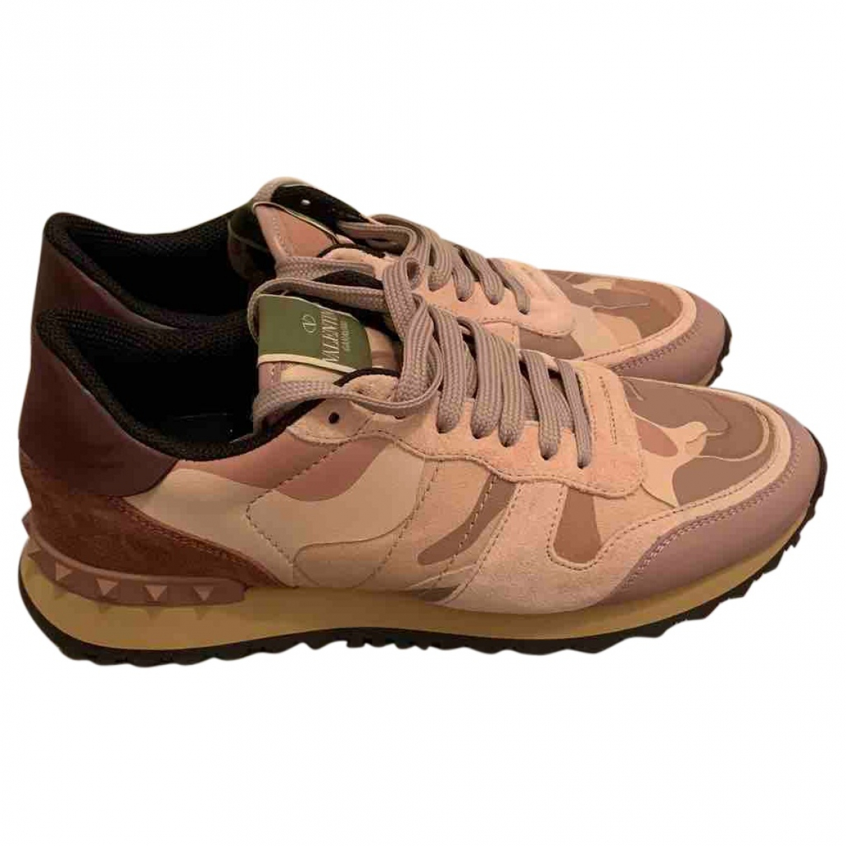 Valentino Garavani Rockrunner Pink Leather Trainers for Women 7 UK
