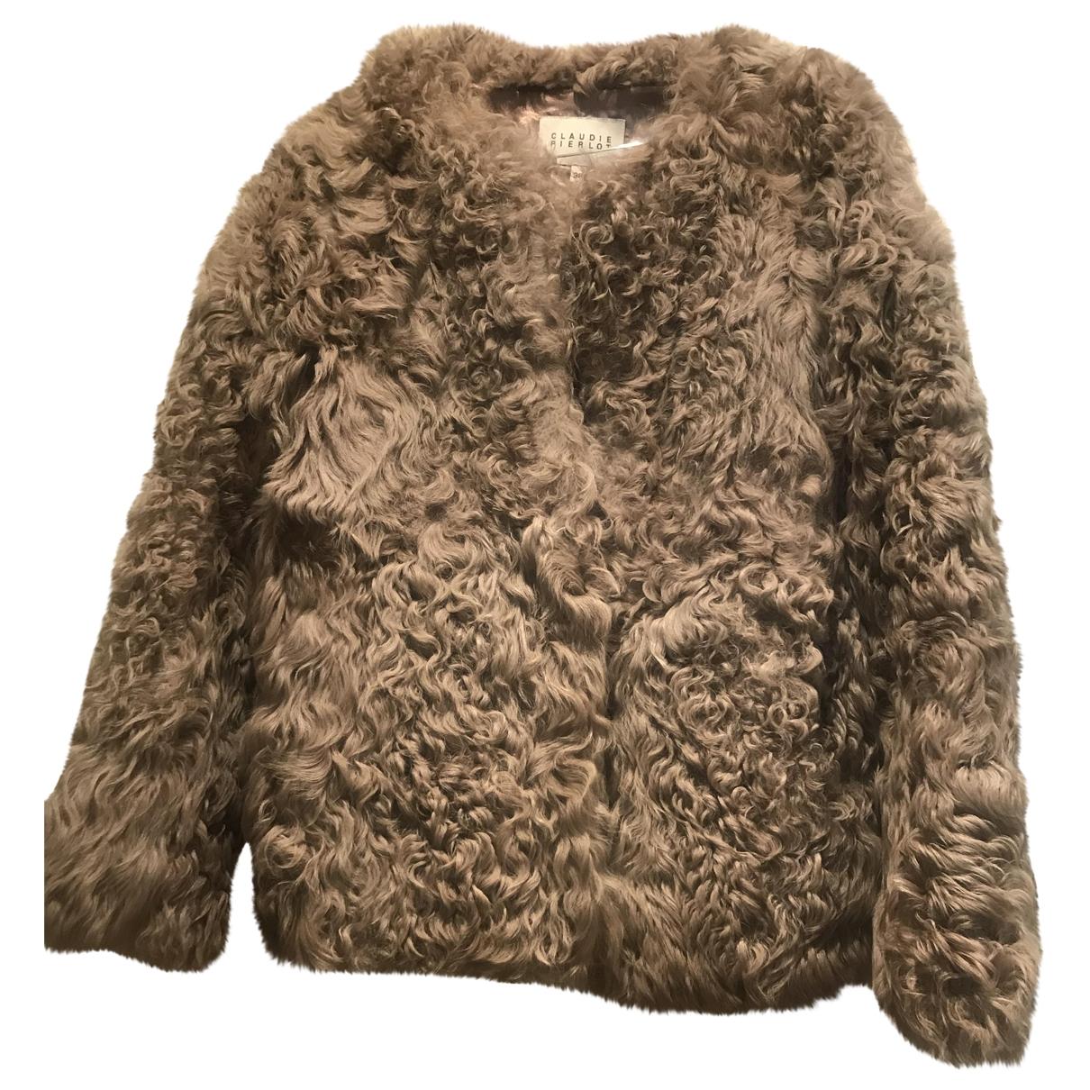 Claudie Pierlot \N Beige Fur coat for Women 38 FR