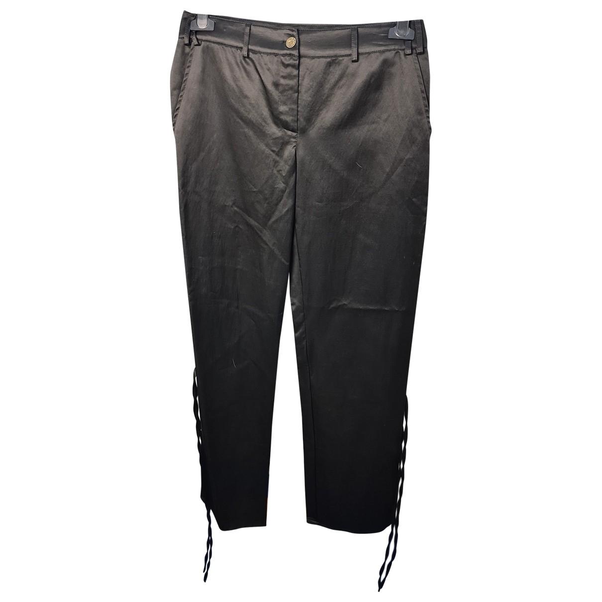 Pantalon en Algodon Negro Class Cavalli