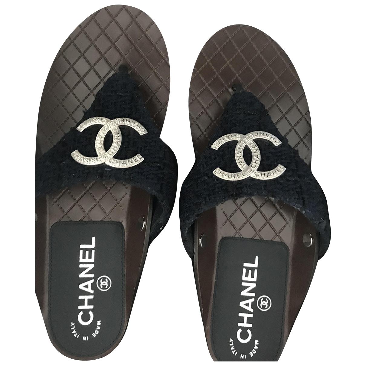 Chanel - Sandales   pour femme en tweed