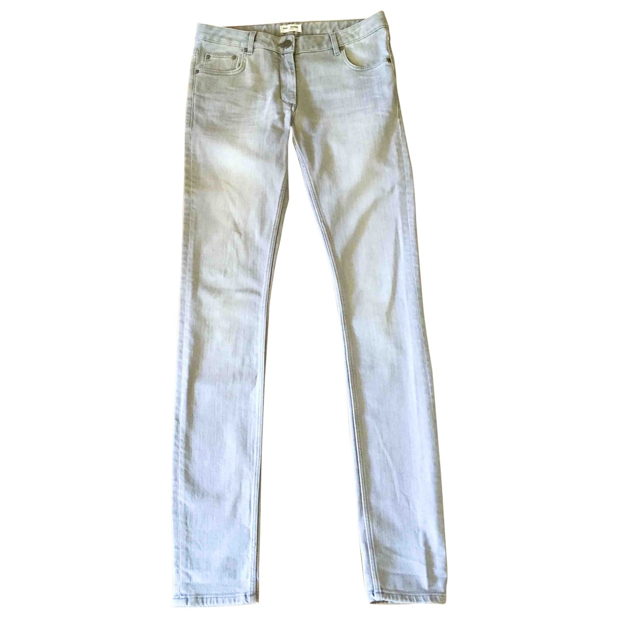 Saint Laurent \N Grey Cotton - elasthane Jeans for Women 38 FR