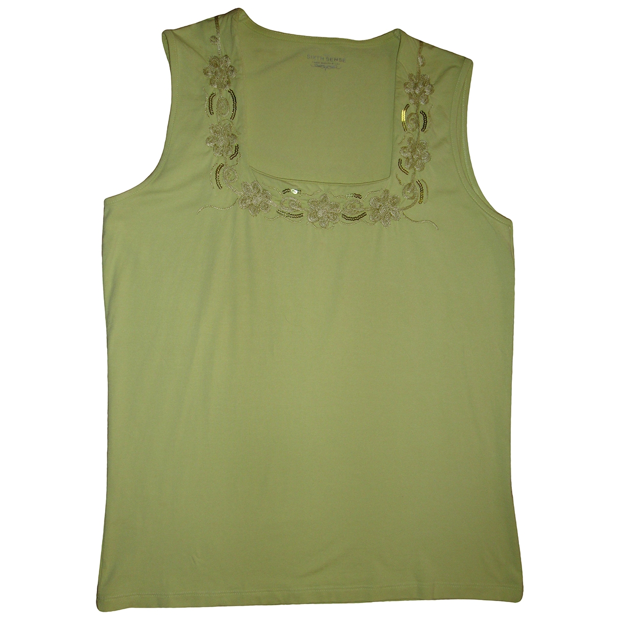 Non Signé / Unsigned Hippie Chic Green Cotton  top for Women M International