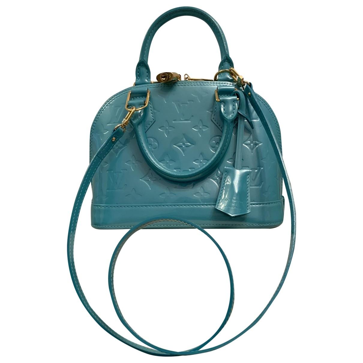 Louis Vuitton Alma BB Turquoise Patent leather handbag for Women \N