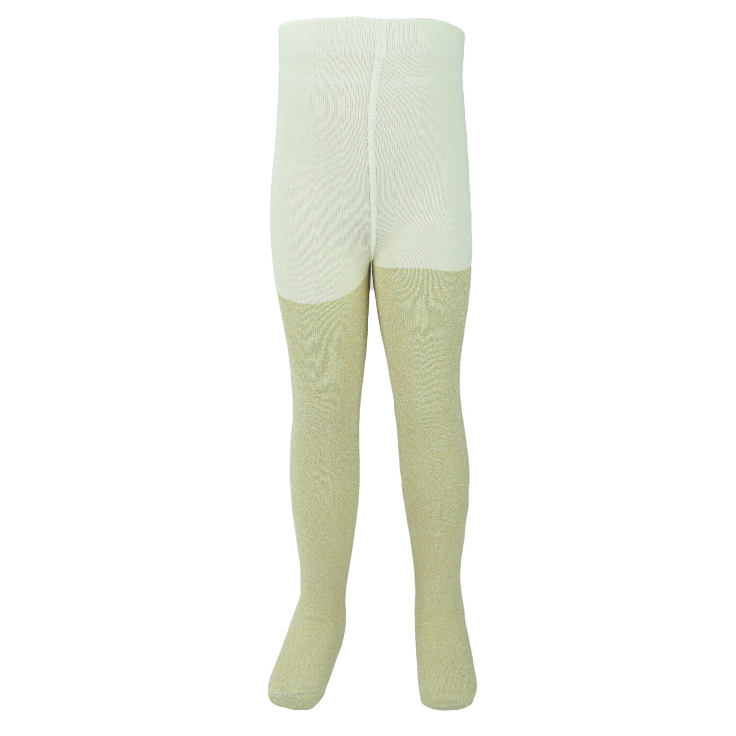 Janie And Jack Girl's Gold Tight - 2T-3