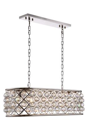 1216G40PN/RC 1216 Madison Collection Pendant Lamp L: 40in W: 13in H: 15in Lt: 6 Polished Nickel Finish Royal Cut Crystal
