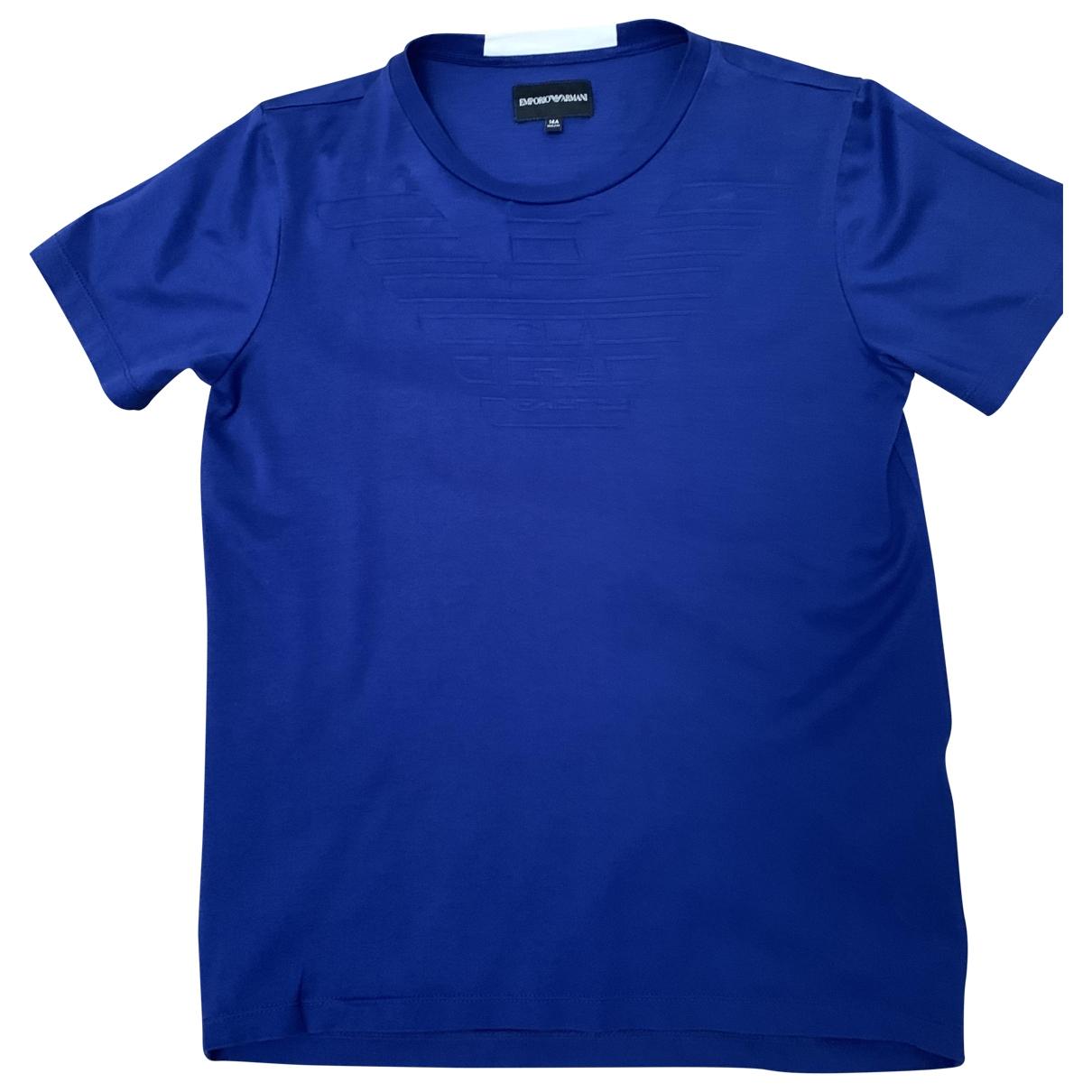 Emporio Armani - Top   pour enfant en coton - bleu