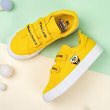 SpongeBob x SHEIN Kids Velcro Strap Sneakers