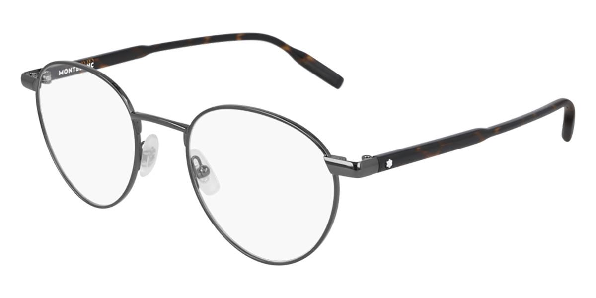 Mont Blanc MB0115O 002 Men's Glasses Tortoise Size 51 - Free Lenses - HSA/FSA Insurance - Blue Light Block Available