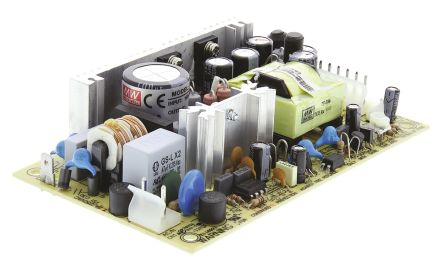 Mean Well , 40W Embedded Switch Mode Power Supply SMPS, 5 V dc, 12 V dc, Open Frame, Medical Approved