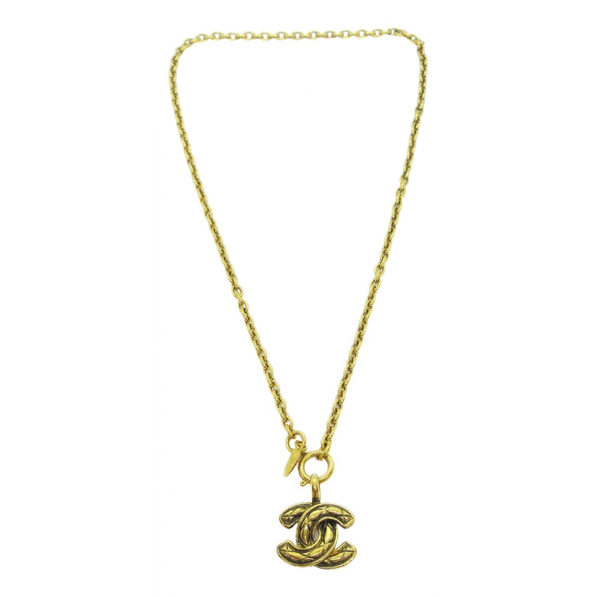 Chanel \N Kette in  Gold Metall