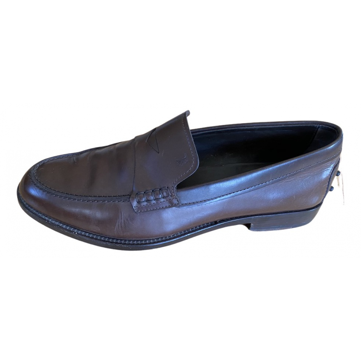 Tod's Gommino Brown Leather Flats for Men 8.5 UK