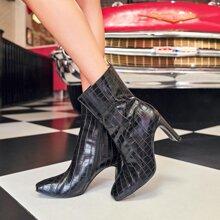 Croc Embossed Boots