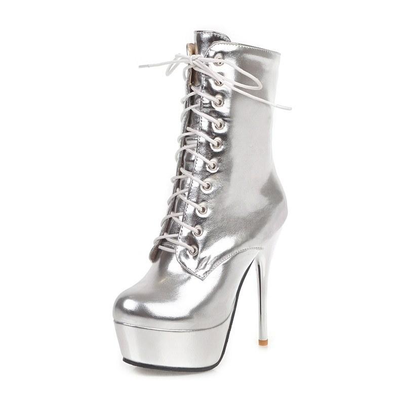 Ericdress Stiletto Heel Plain Side Zipper Women's Ankle Boots