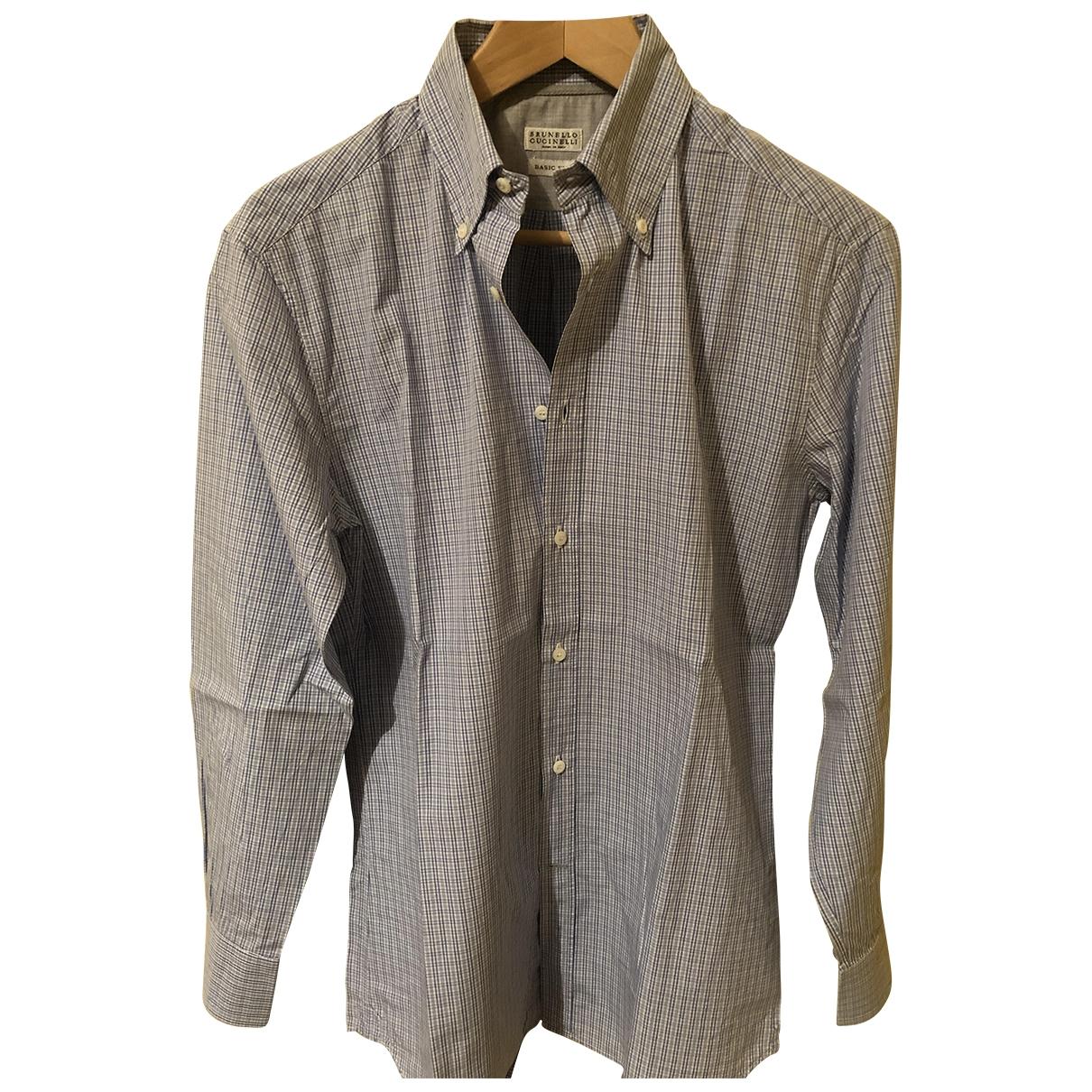 Brunello Cucinelli \N Hemden in  Blau Baumwolle