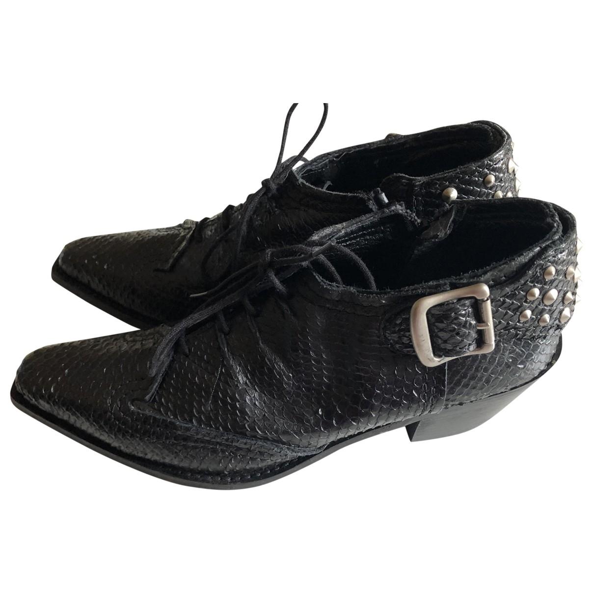 Junya Watanabe \N Black Python Boots for Women 38.5 EU