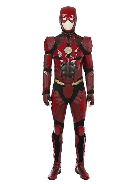 Milanoo DC Comics Justice League The Flash Cosplay Costume Carnival