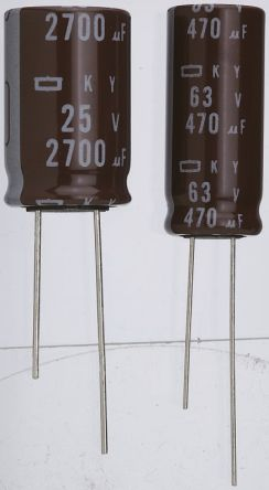 Nippon Chemi-Con 1μF Electrolytic Capacitor 50V dc, Through Hole - EKY-500ELL1R0ME11D (5)