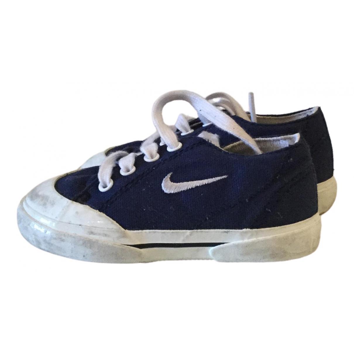 Nike - Baskets   pour enfant en toile - bleu