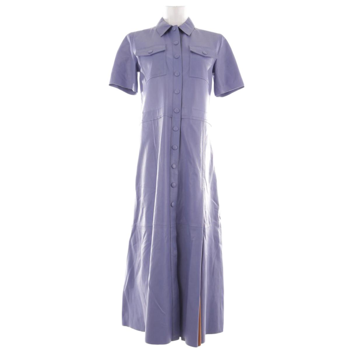 Stand Studio - Robe   pour femme en cuir - violet