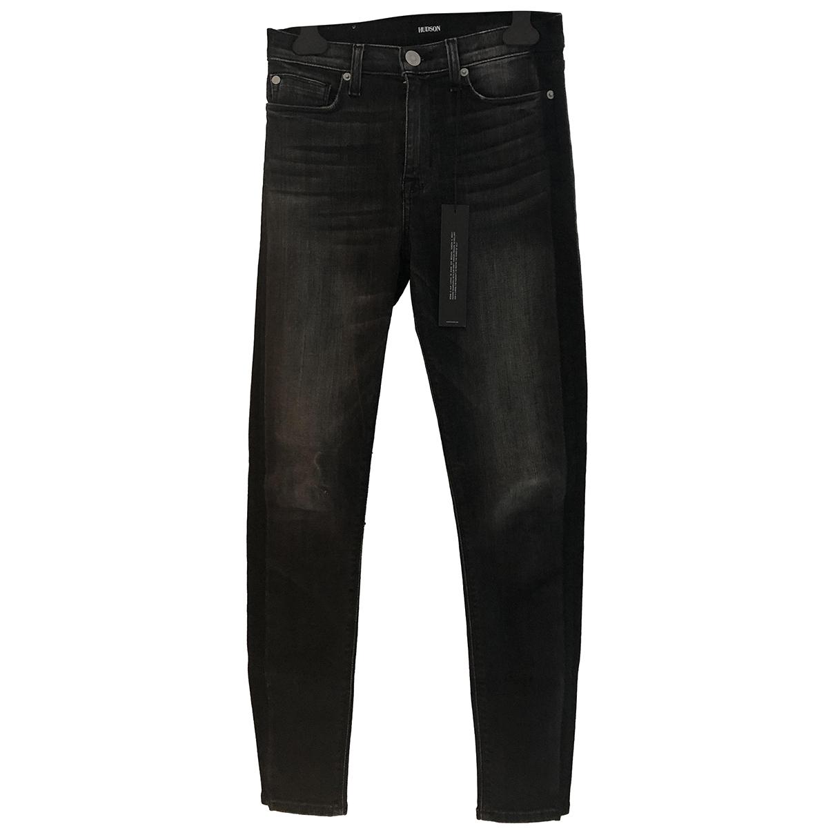 Hudson - Jean   pour femme en coton - anthracite