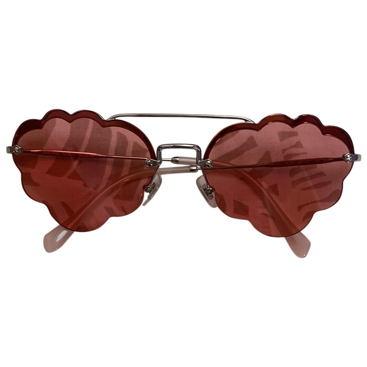 Miu Miu N Pink Metal Sunglasses for Women N