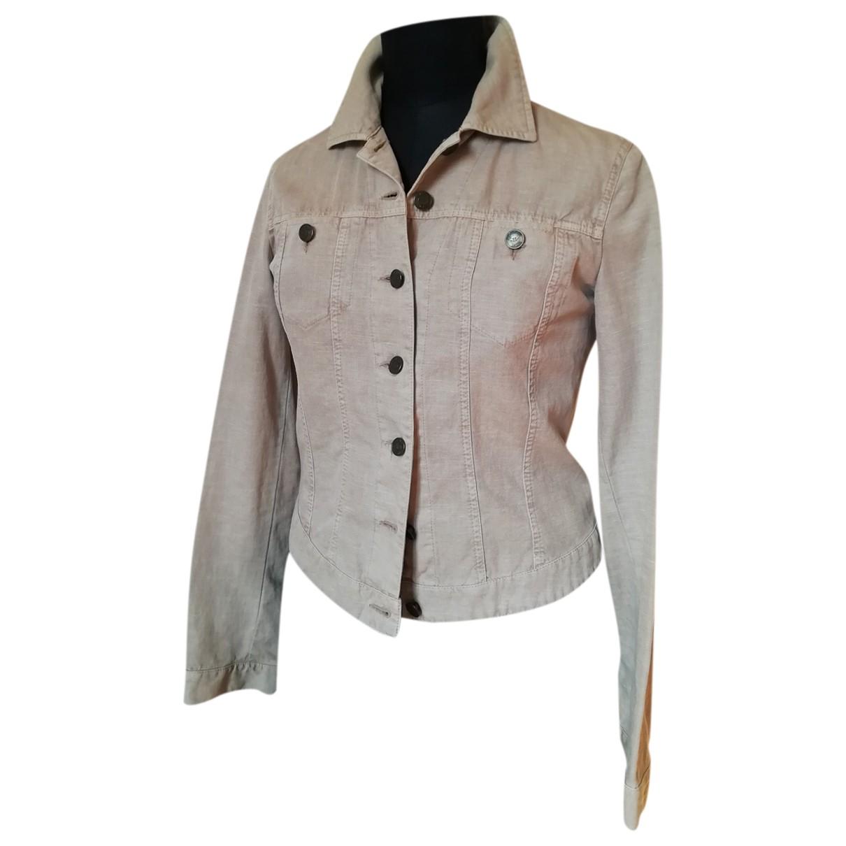Armani Jean - Veste   pour femme en coton - ecru