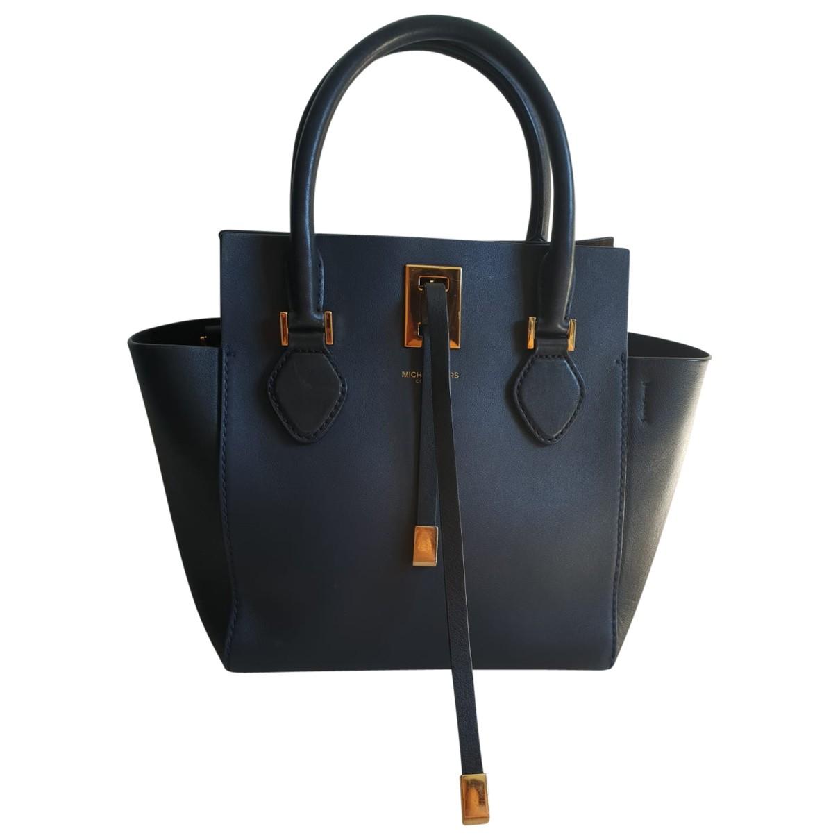 Michael Kors Miranda (Collection) Handtasche in  Blau Leder