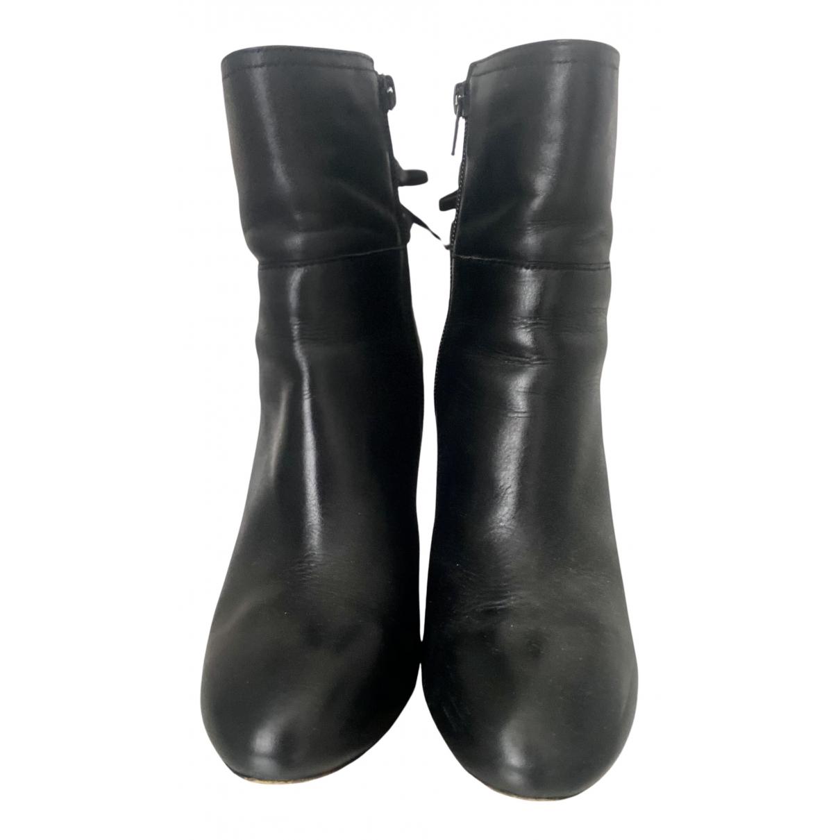 Stefanel \N Stiefel in  Schwarz Leder