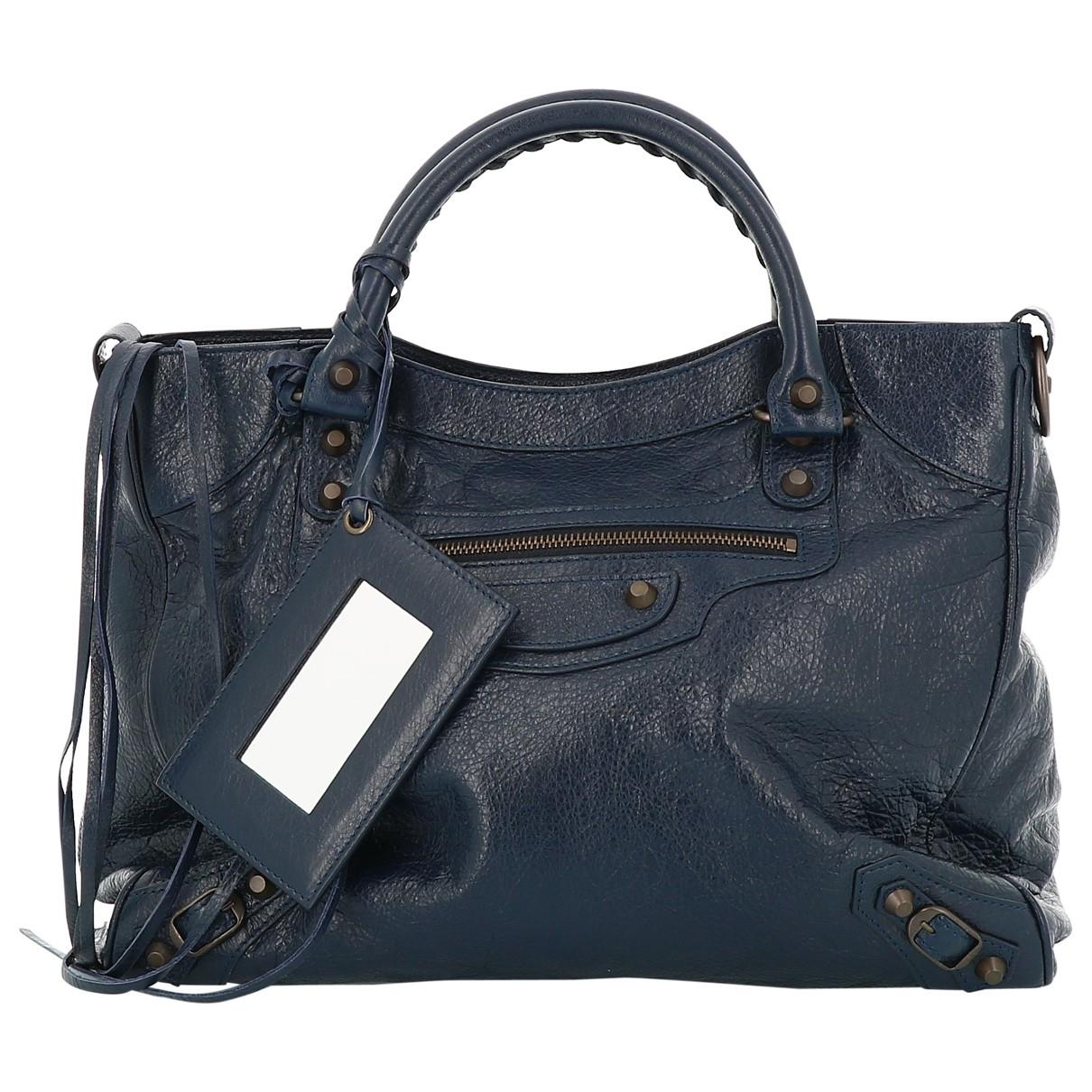 Balenciaga City Navy Leather handbag for Women \N