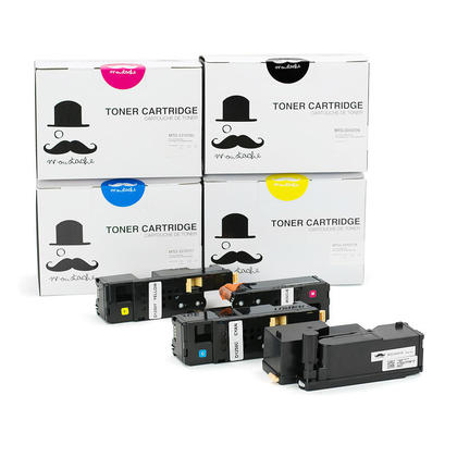 Compatible Dell 331-0777/331-0778/331-0779/331-0780 New Toner Cartridge Value Pack High Yield - Moustache@