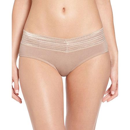Warner's No Pinching. No Problems. Lace-Trim Cotton Hipster Panty RU1091P, Large , Brown
