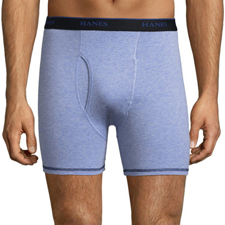 Hanes Cool Comfort 3 Pack Boxer Briefs, Large , Blue