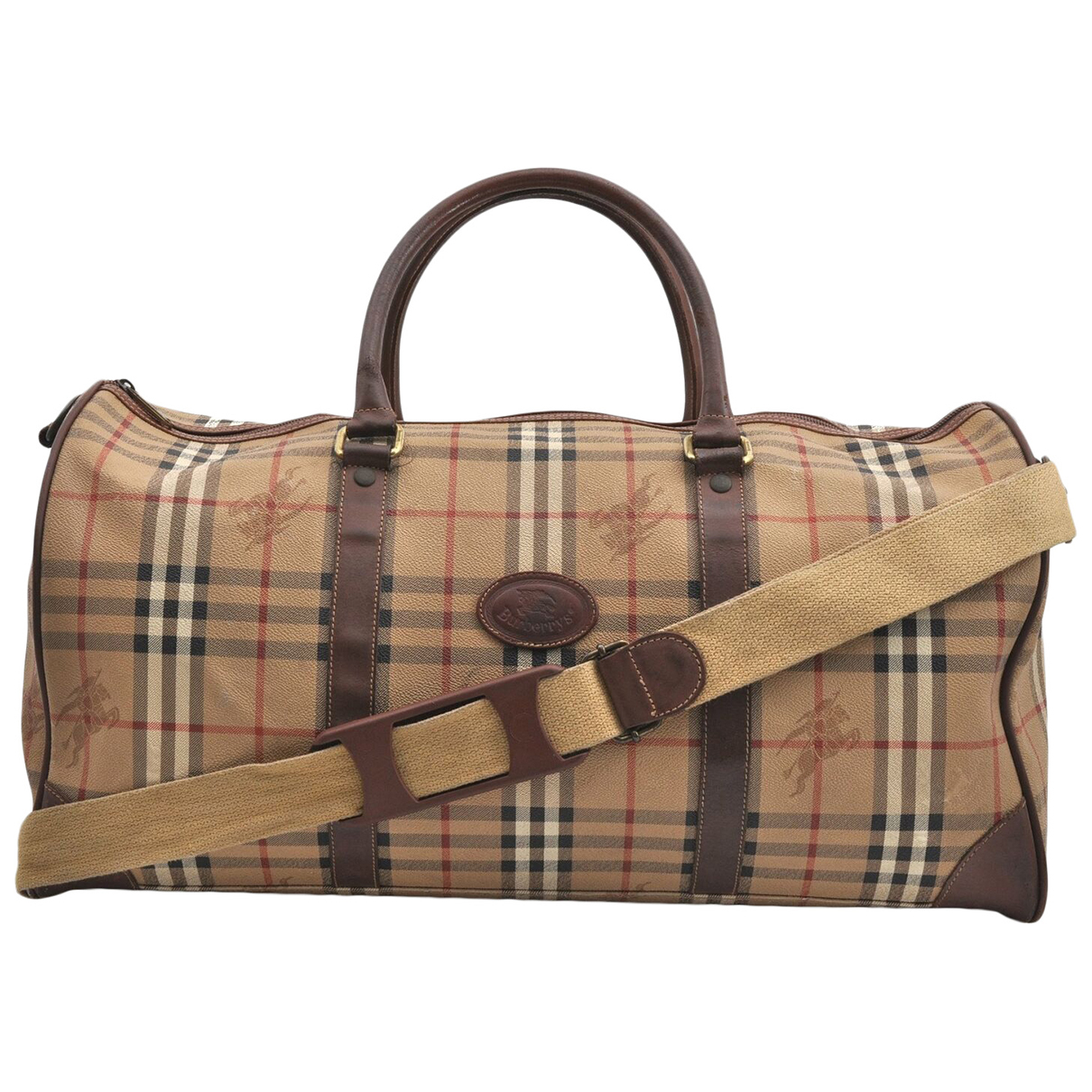 Burberry - Sac de voyage   pour femme en cuir - marron