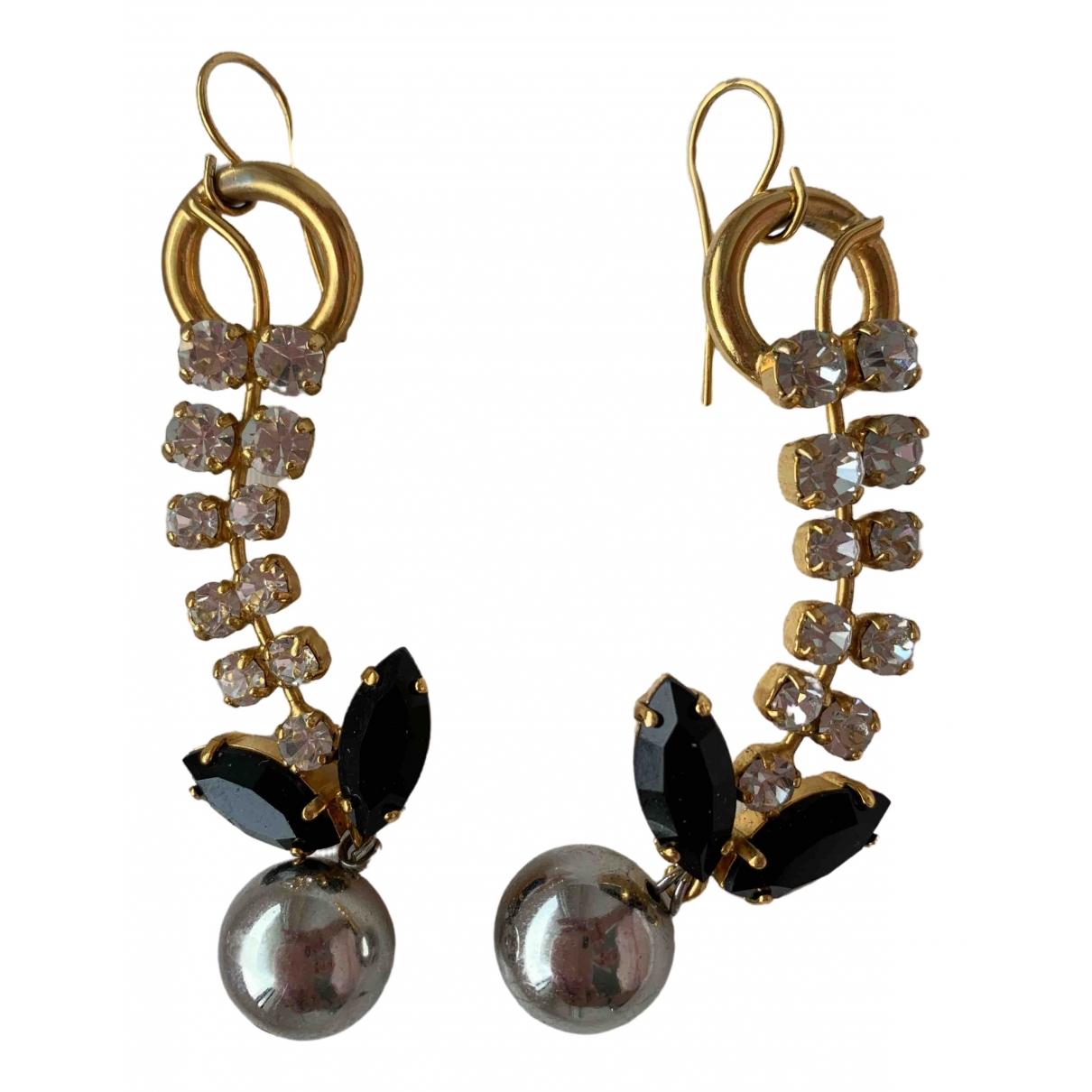 Marni \N OhrRing in  Gold Kristall