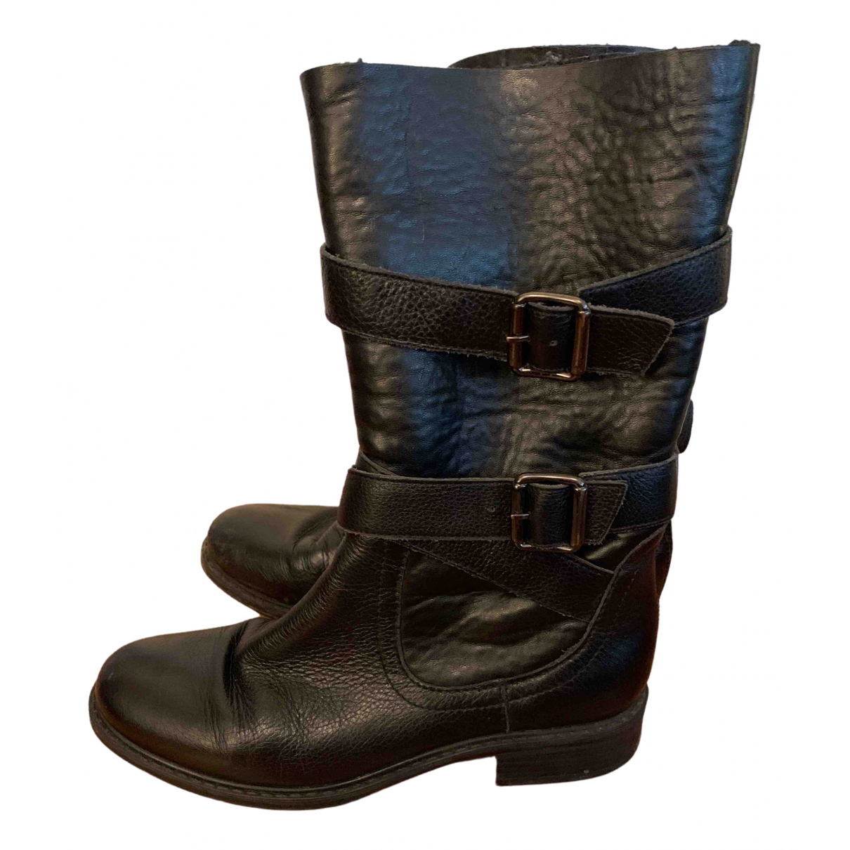Unisa \N Black Leather Boots for Women 36 EU