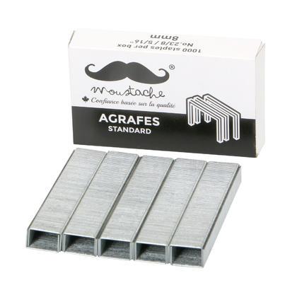 Agrafes, 1000 coups/boîte - Moustache® - 1/paquet, No. 23/8, 8mm