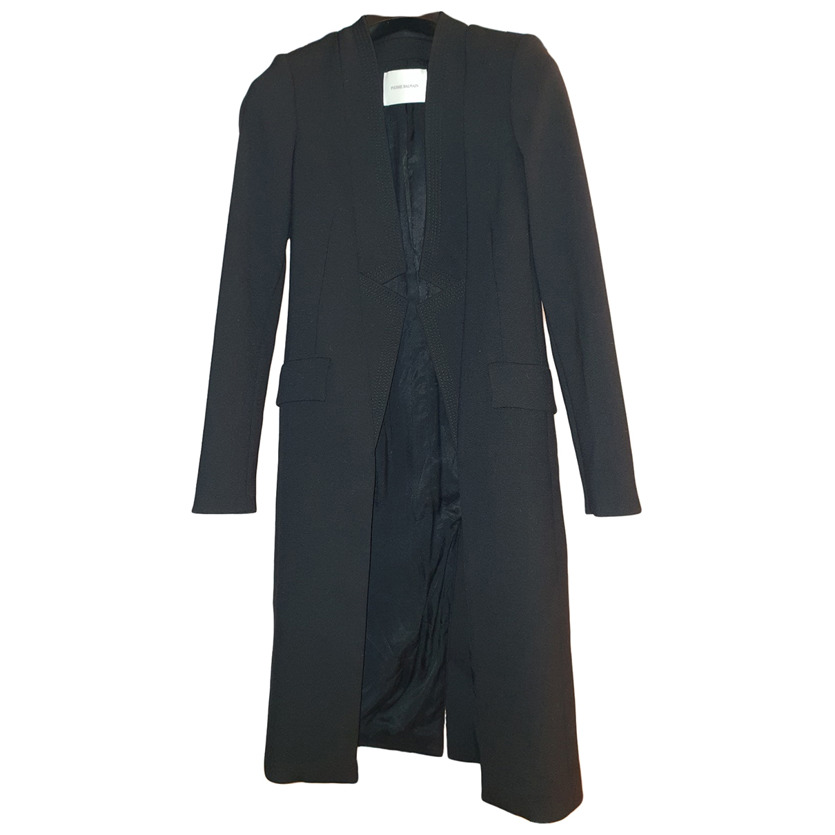 Pierre Balmain \N Black coat for Women 36 FR