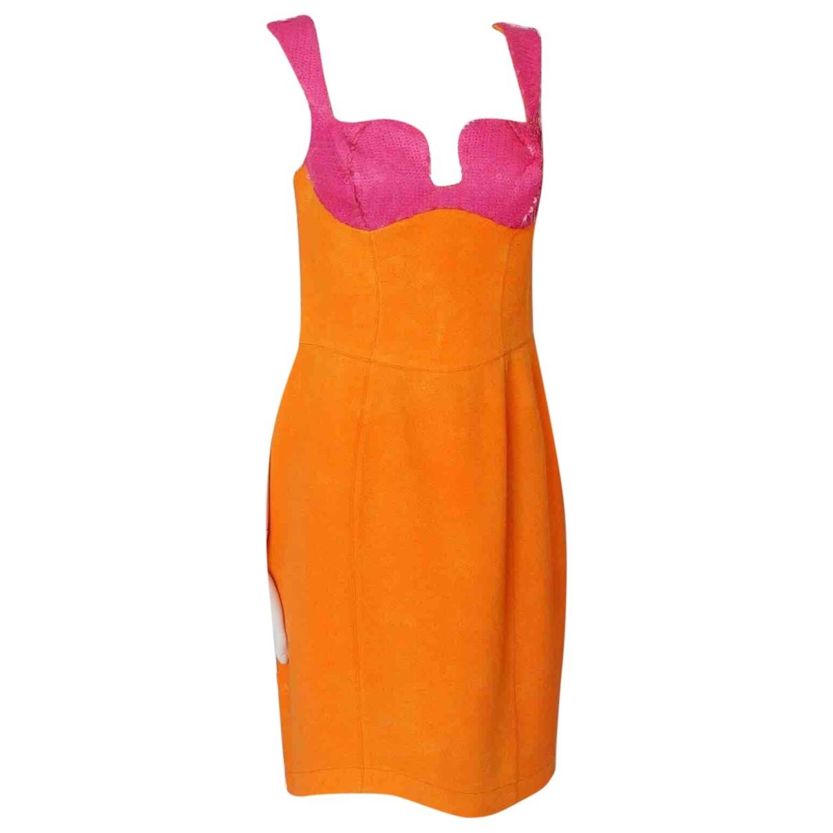 Thierry Mugler \N Orange dress for Women 38 FR