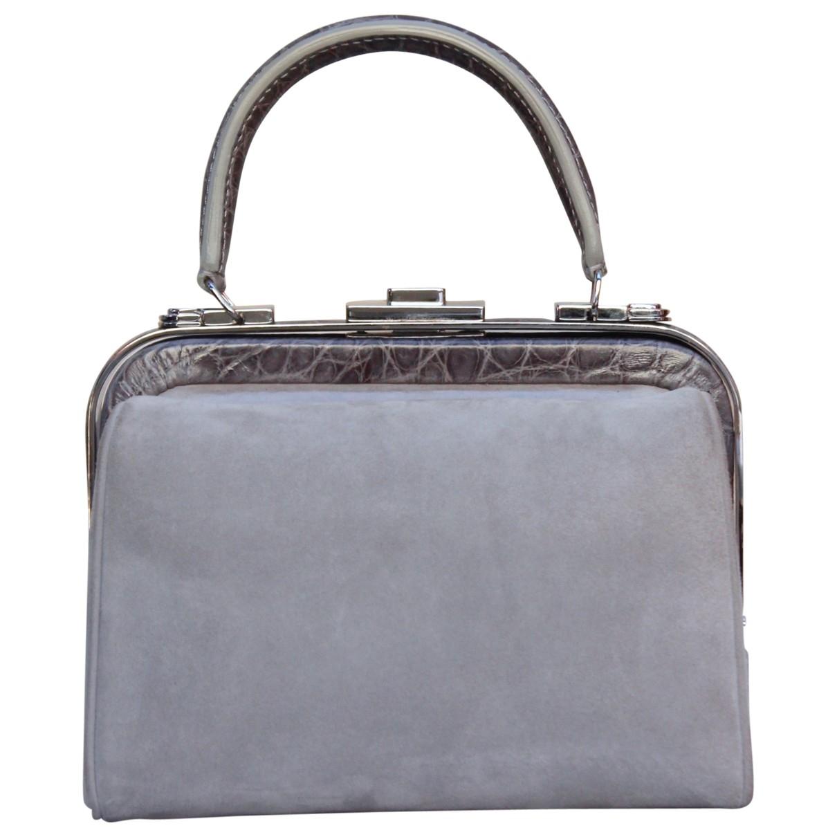 Giorgio Armani \N Handtasche in  Grau Leder