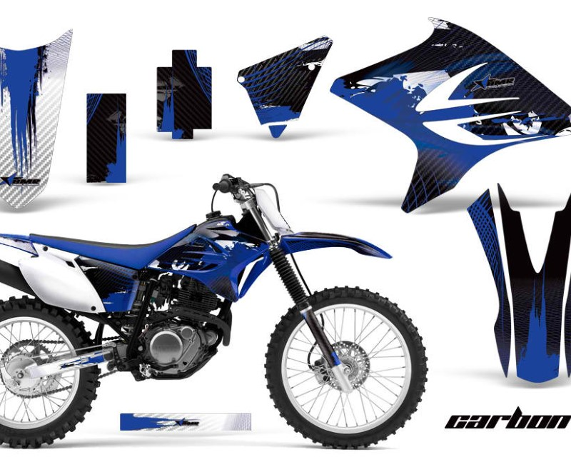 AMR Racing Dirt Bike Decal Graphics Kit Sticker Wrap For Yamaha TTR230 2005-2018áCARBONX BLUE
