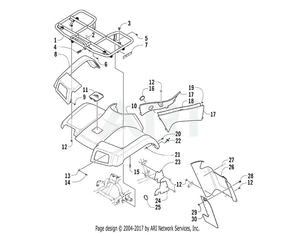 Arctic Cat OEM 1506-869 Fender Front Routed(At Camo) | (Inc. 11)