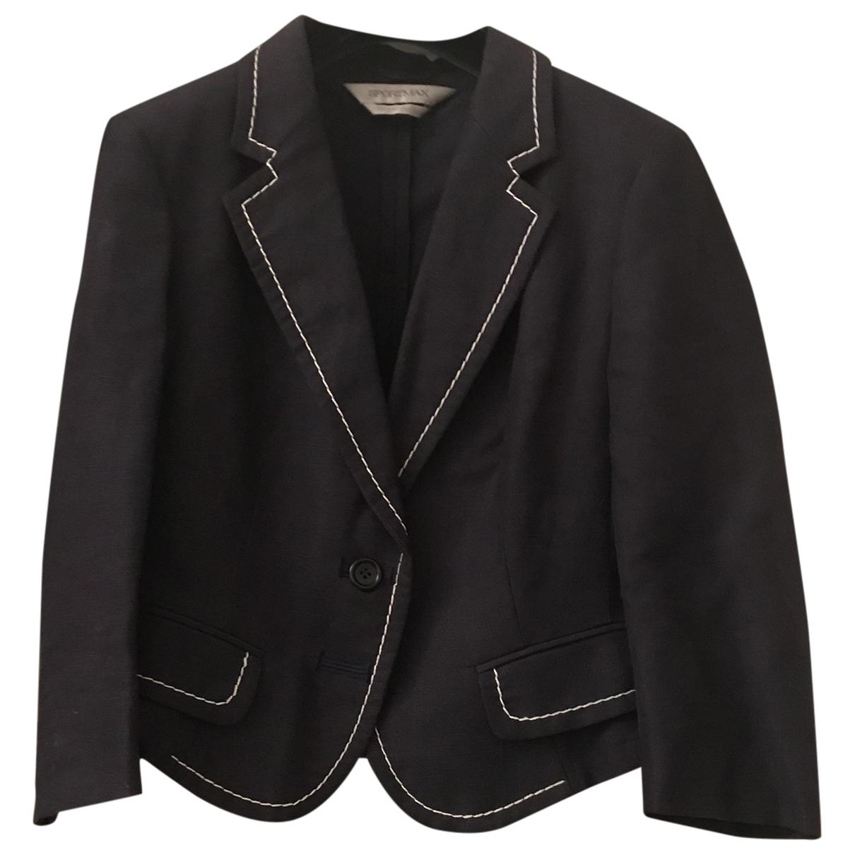 Sport Max \N Blue Linen jacket for Women 44 IT