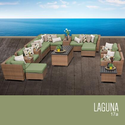 LAGUNA-17a-CILANTRO Laguna 17 Piece Outdoor Wicker Patio Furniture Set 17a with 2 Covers: Wheat and