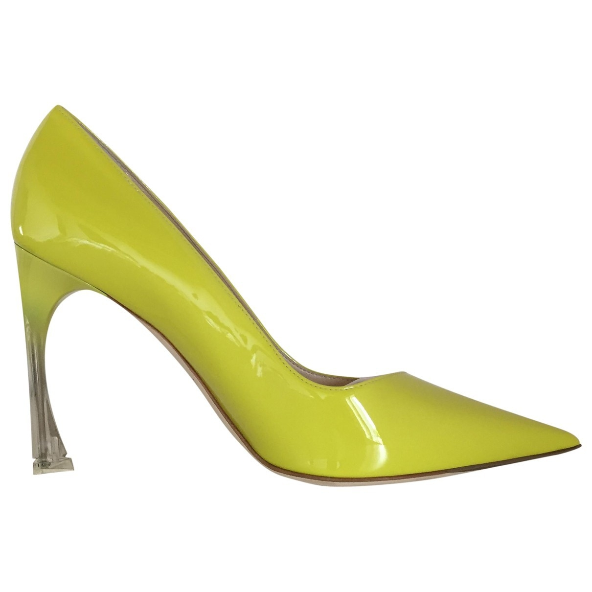 Dior Dior D-Stiletto Yellow Patent leather Heels for Women 38 EU