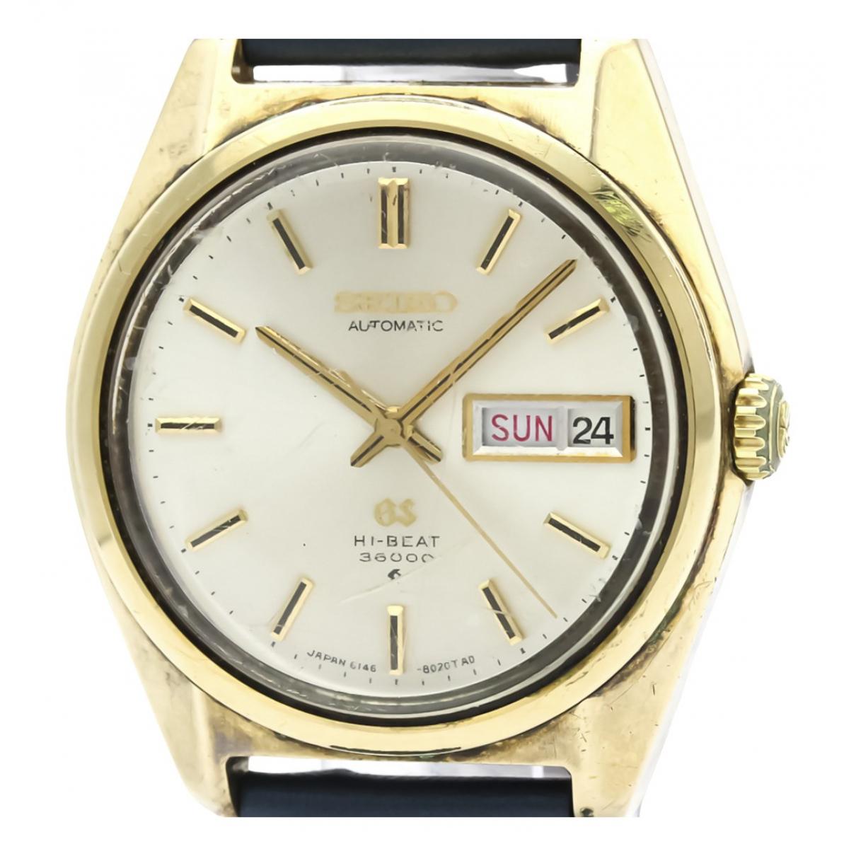 Seiko \N Uhr in  Silber Vergoldet