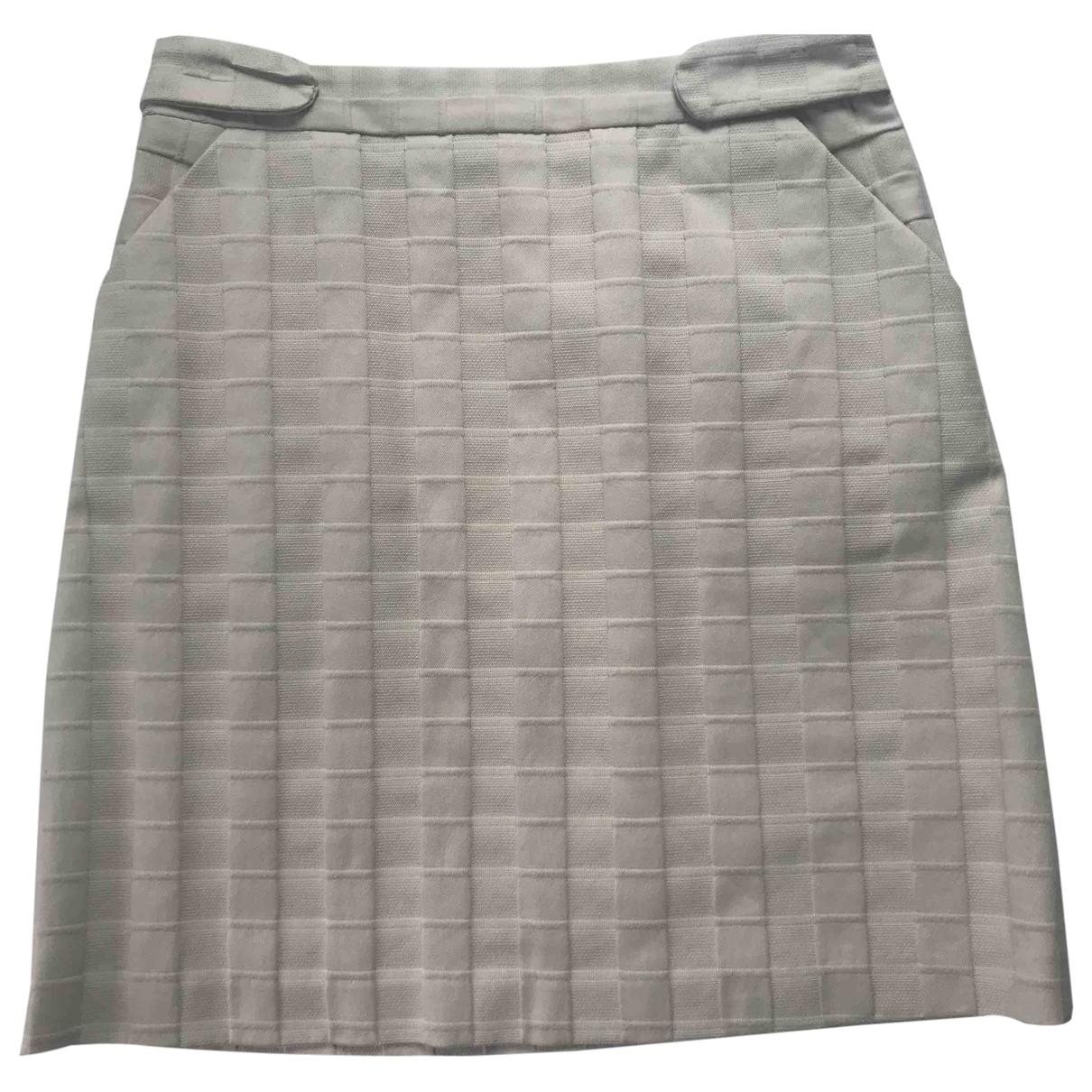 Milly \N Ecru Cotton skirt for Women 42 IT