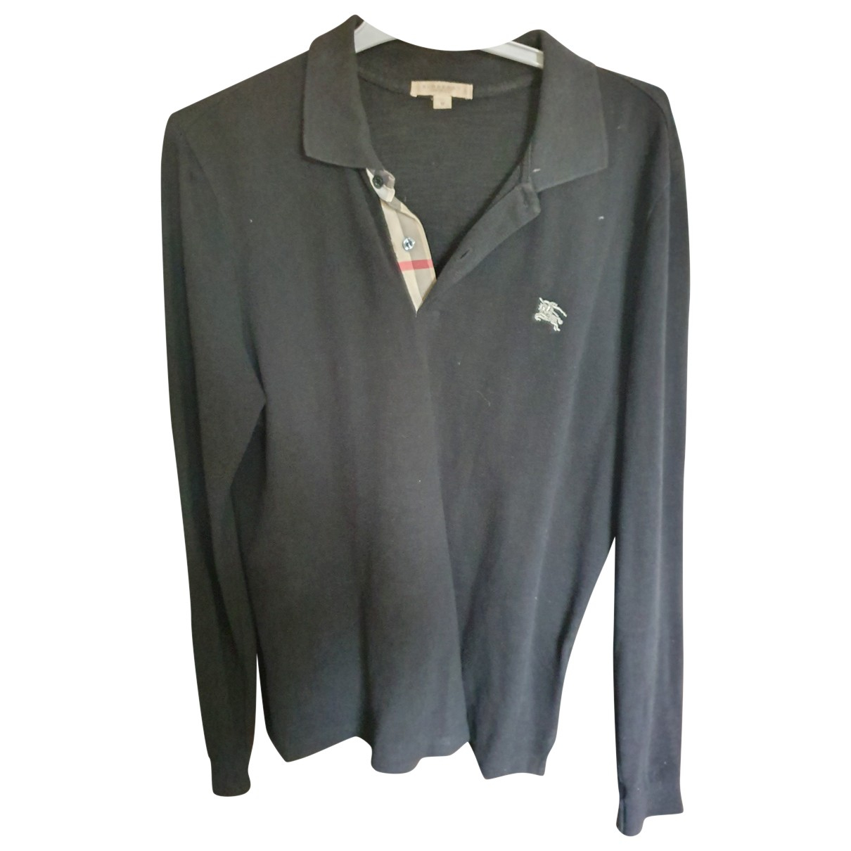 Burberry N Black Cotton Polo shirts for Men L International