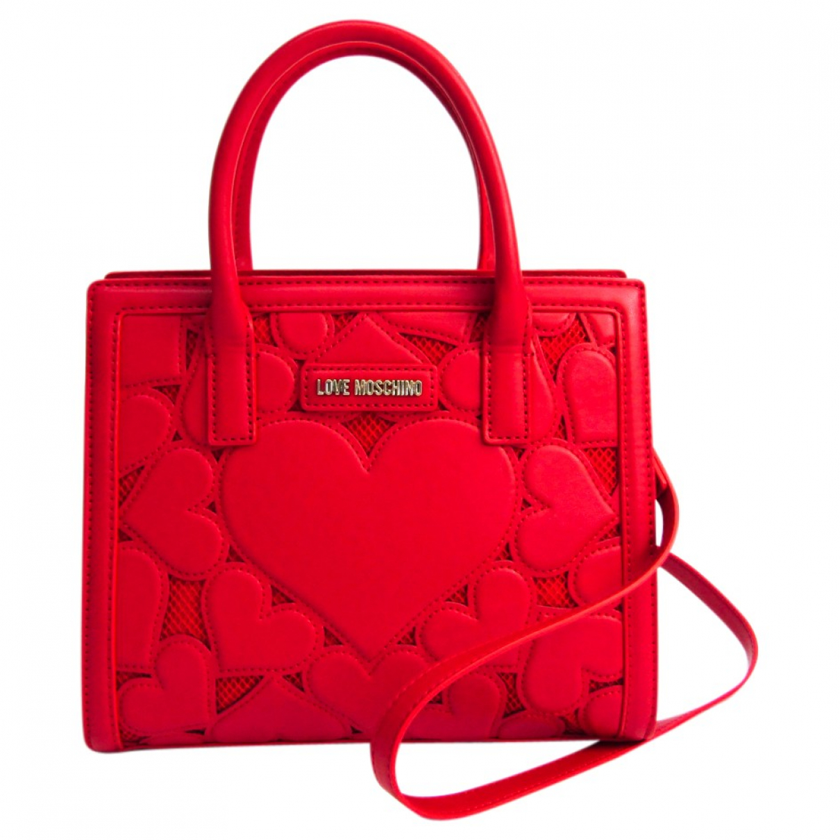 Moschino N Red Leather handbag for Women N